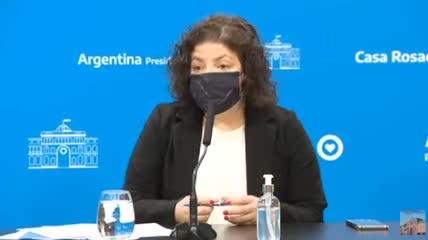 La Ministra de Salud anunció la vuelta del público a los estadios