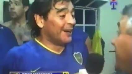 Maradona, el hincha número 1