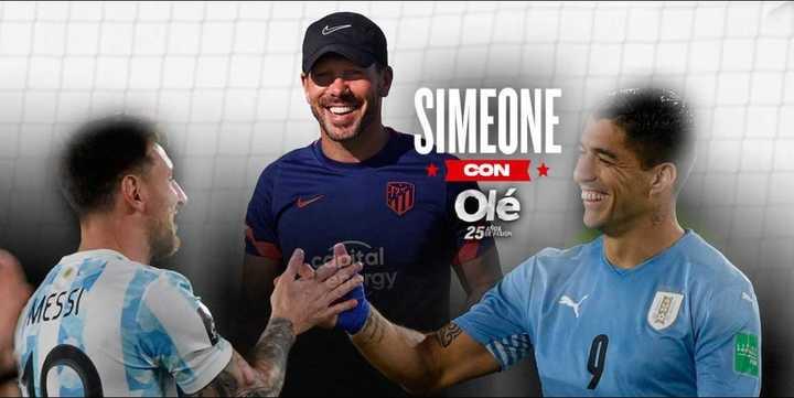 Simeone y la mínima ilusión de juntar a Messi y Suárez