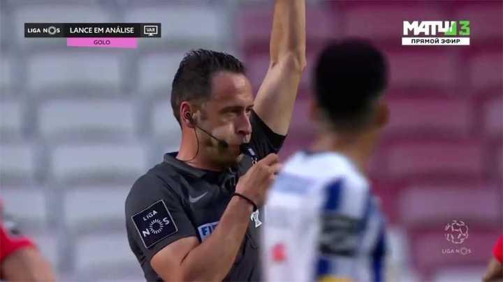 El gol anulado al Benfica