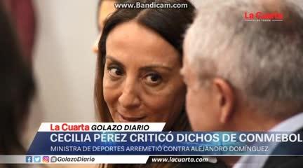 El audio que sería de Cecilia Pérez contra Conmebol