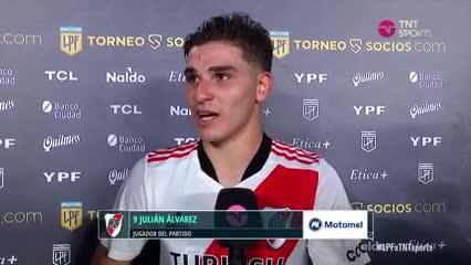Julián Álvarez habló de sus goles y del partido que se viene ante Talleres