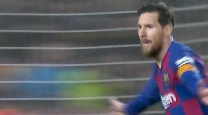 Messi marcó el 1 a 0 de Barcelona