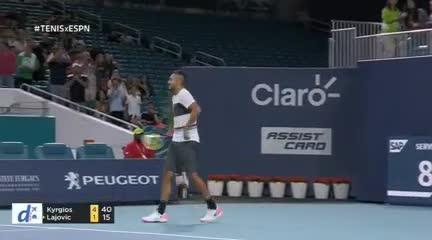 La pelea de Kyrgios con un espectador
