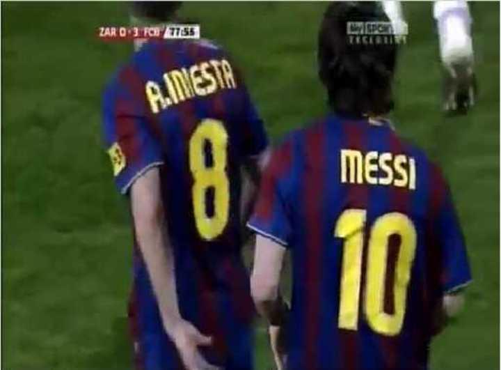 Hat-trick de Messi al Zaragoza en 2010.