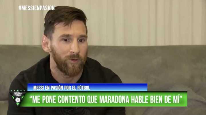 Messi habló de Maradona