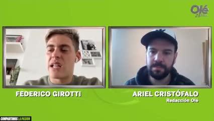 La entrevista de Olé a Fede Girotti