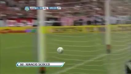 Los goles cruzados de Scocco a River y a Newell's