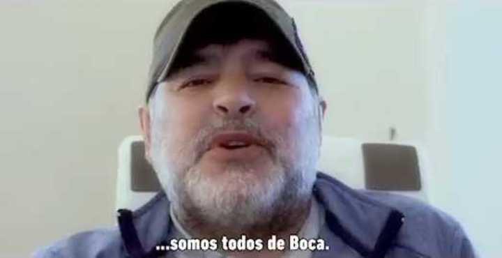 Diego y Tevez en el institucional de Boca