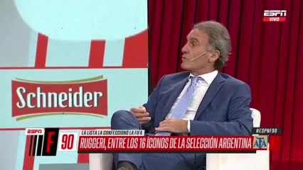 La emoción de Ruggeri por estar entre los 16 íconos de la Selección Argentina