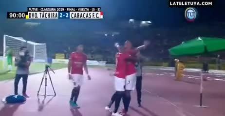 Caracas y un gol agónico para ser campeón