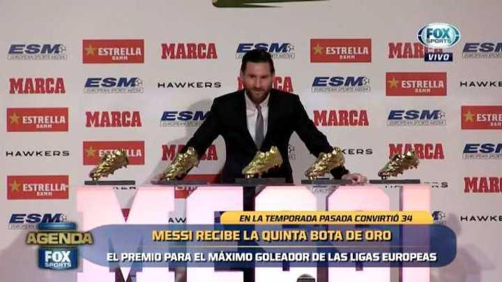 La número cinco para Messi