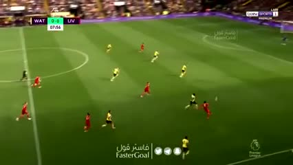 Soberbia asistencia tres dedos de Salah para Mané: 1-0 del Liverpool vs Watford