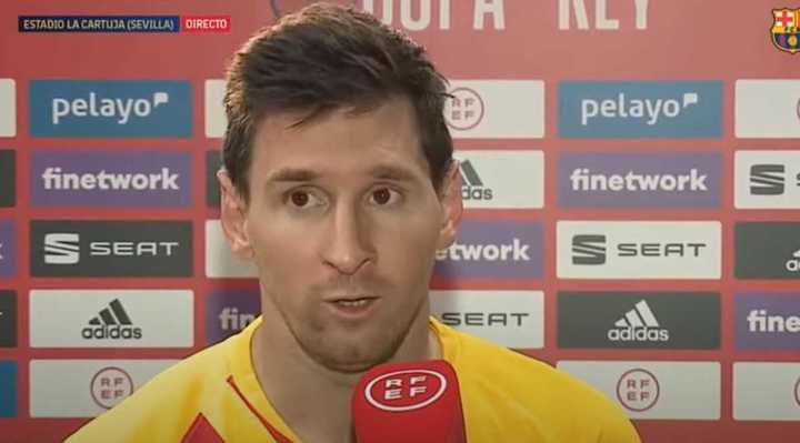 La palabra de Messi después de ganar la Copa del Rey