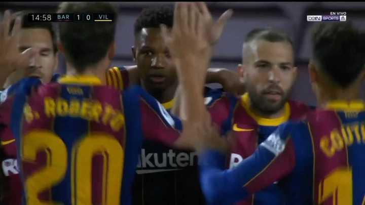 Ansu Fati abrió el partido para el Barcelona