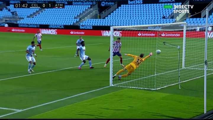 Morata anotó al minuto