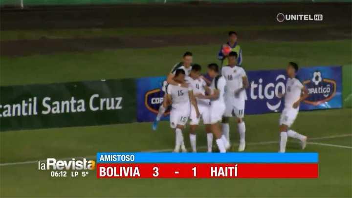 Bolivia venció por 3 a 1 a Haití