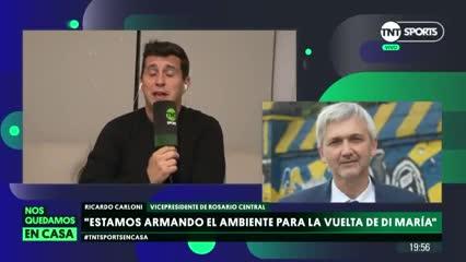 Ricardo Carloni, presidente de Central, habla de una vuelta de Di María