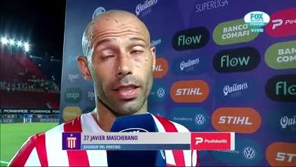 """Javier Mascherano: """"Fue de casualidad la asistencia"""""""