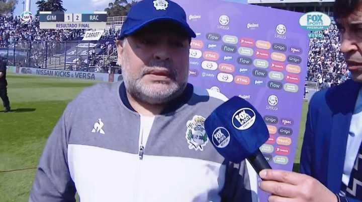 La palabra de Diego cuando terminó el partido