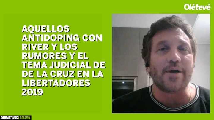 Domínguez habló sobre las sospechas de dóping en el fútbol sudamericano