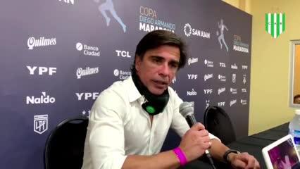 Sanguinetti después de la derrota ante Boca por penales