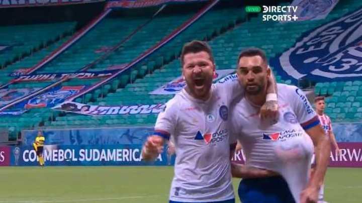 Gol de Gilberto para Bahía