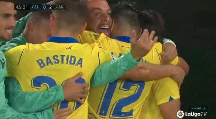 El Celta cayó 2 a 1 frente a Cádiz