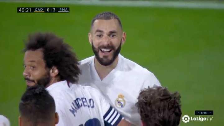 El Real Madrid liquidó 3 a 0 al Cádiz