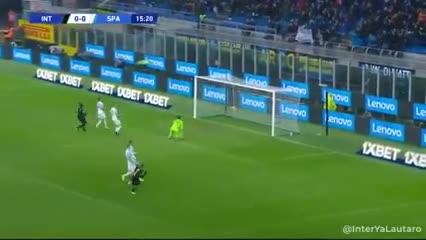 Lautaro Martínez y el 1-0 del Inter sobre SPAL