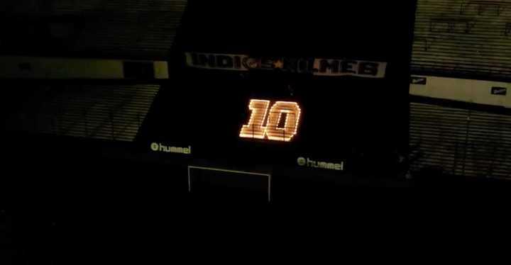 Impresionante homenaje de Quilmes a Maradona