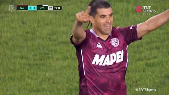 Malcorra marcó el 2 a 1 de Lanús