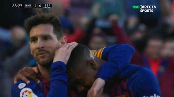 Doblete de Messi y 2 a 0 para el Barcelona