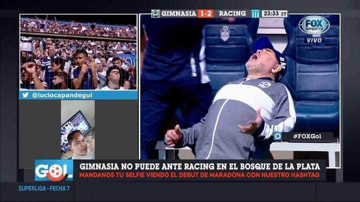 El lamento de Maradona tras la chance errada por Mussis