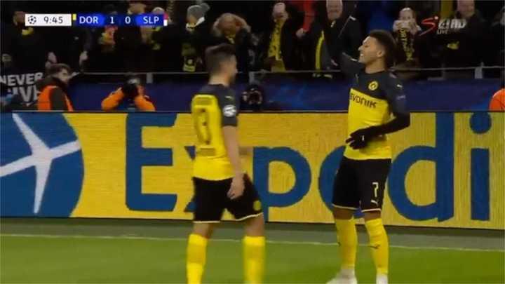 Sancho marcó el primero para el Dortmund