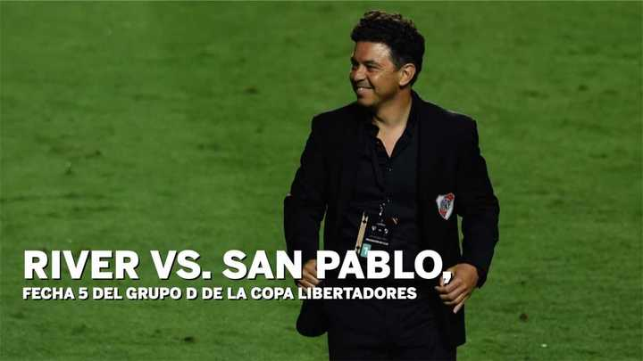 La data de River vs. San Pablo