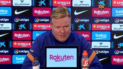 Koeman habló sobre la situación de Messi