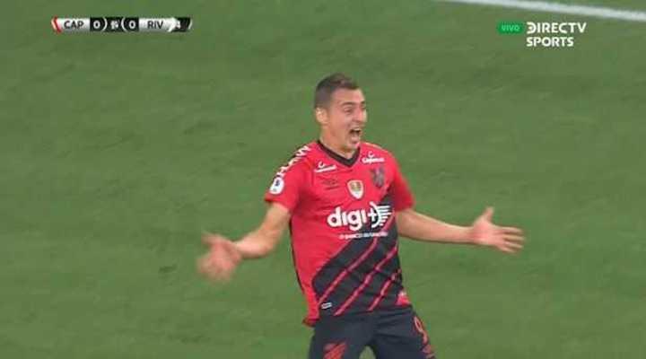 Ruben marcó el 1 a 0 de Ath. Paranaense