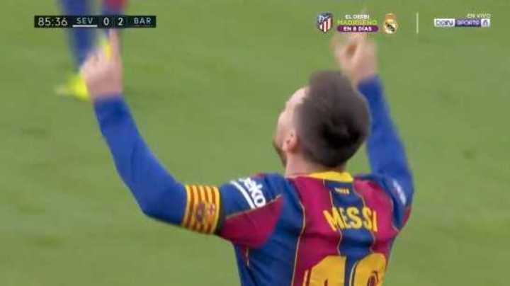 Golazo de Messi para el 2 a 0 del Barcelona