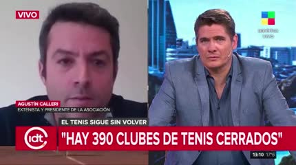 Calleri sobre la situación del tenis