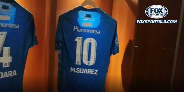 Camiseta infiltrada en el vestuario de Belgrano