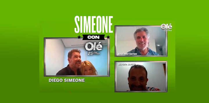 """Simeone y la pregunta genial de su hija: """"¿Por qué la gente te aplaude?"""