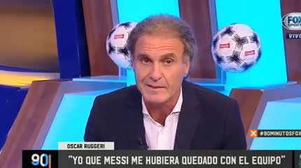 Ruggeri criticó a Messi