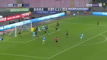 El resumen de la goleada Napoli 4-0 Frosinone
