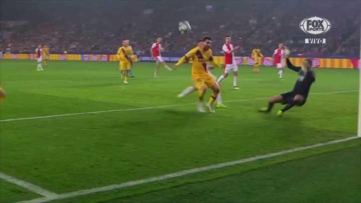 Messi no pudo marcar el tercero