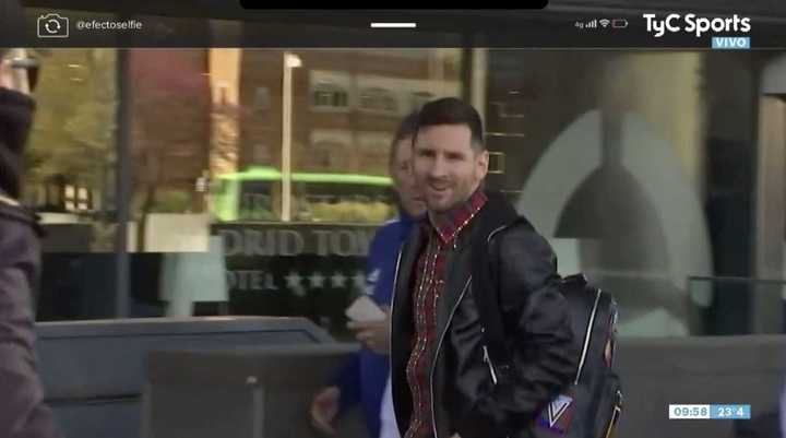 Así fue la llegada de Messi