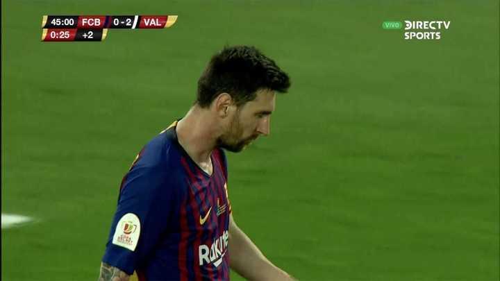 El remate de Messi desde afuera