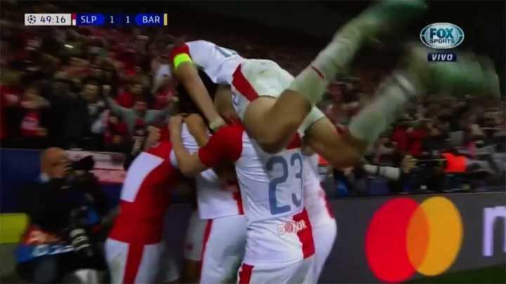 El Slavia empató el partido