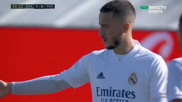Hazard marcó el 1 a 0 del Real Madrid