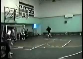 Maradona jugando al futsal en Parque